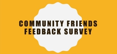 The logo of community friends feedback survey